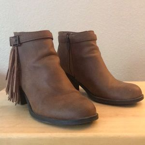 Sam Edelman Fringe Ankle Booties